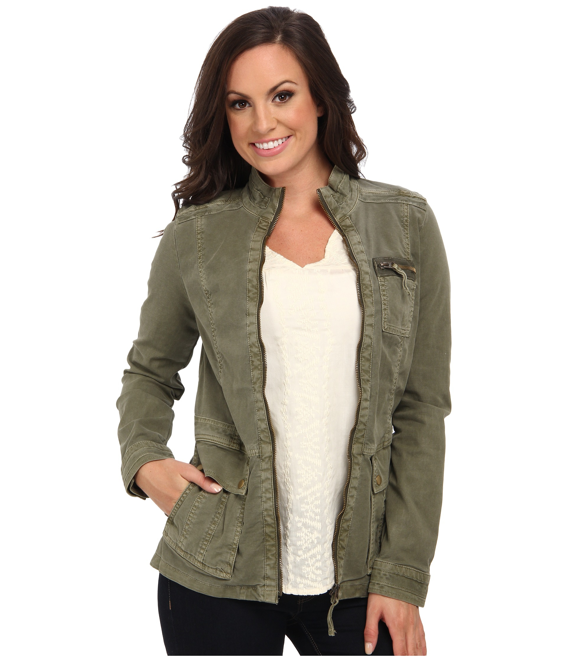 Women S Military Jacket Green