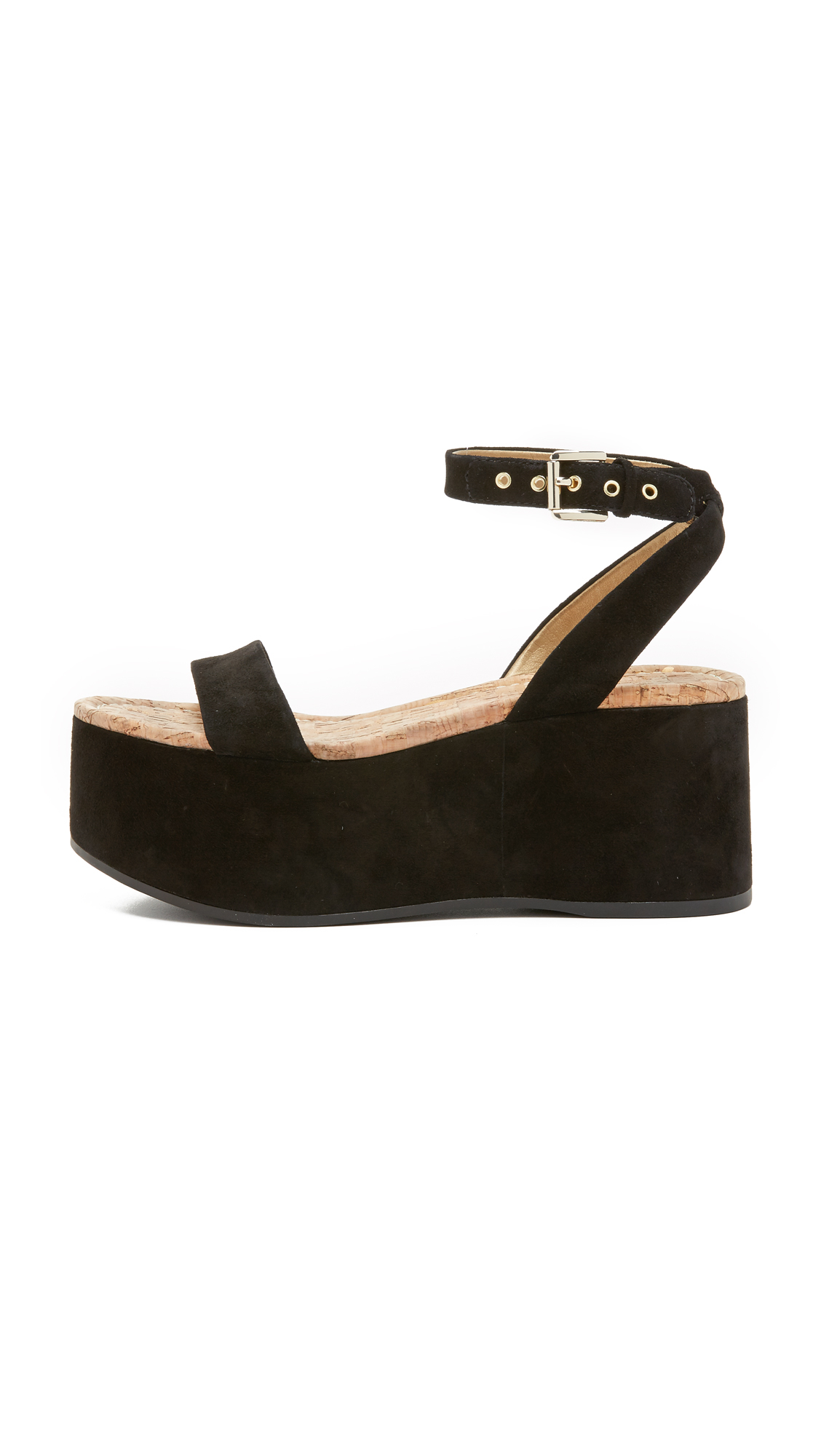 sam edelman henley flatform sandals in black lyst