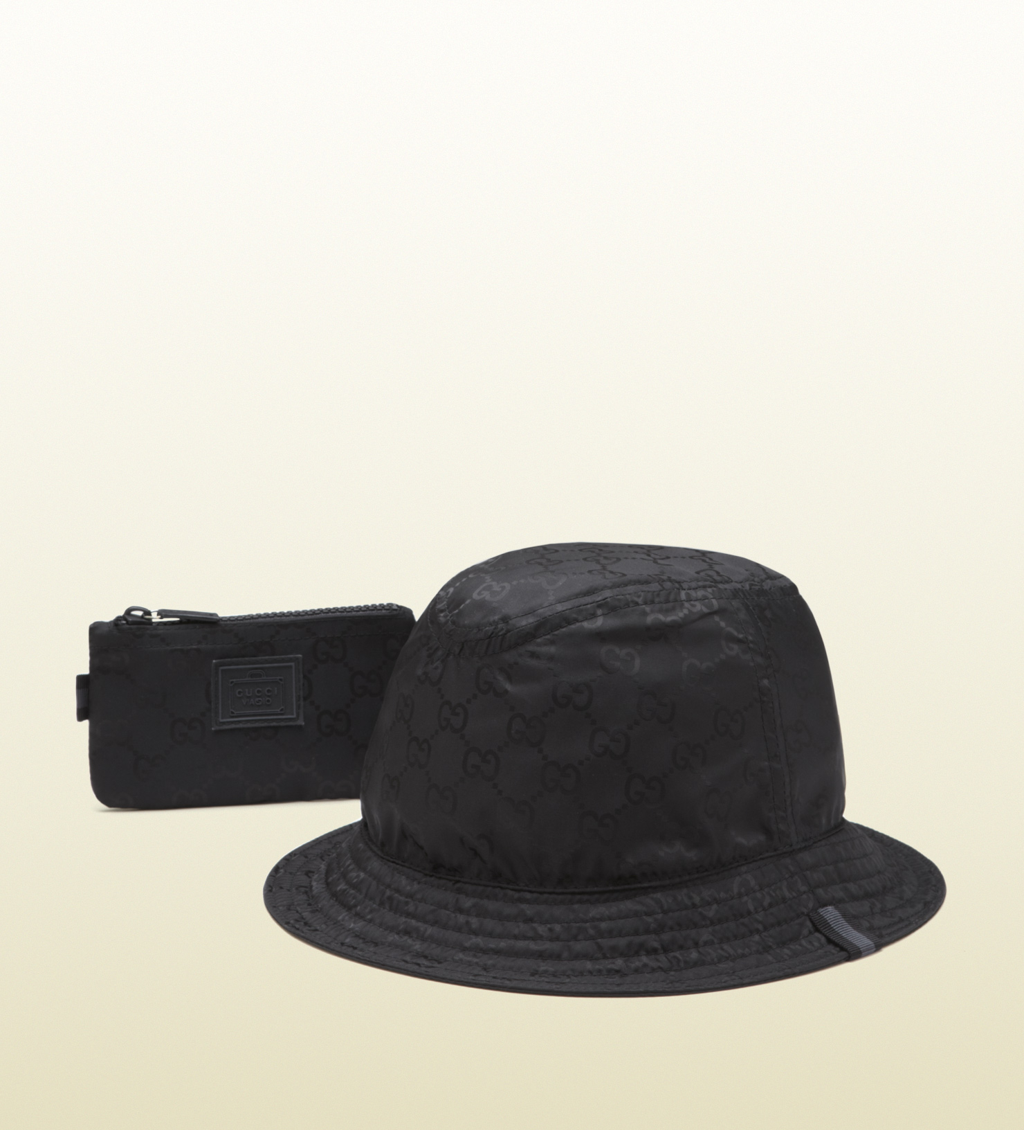 e8acb6c926a Lyst gucci mens black nylon hat from viaggio collection in black jpg  1480x1632 Gucci hats for
