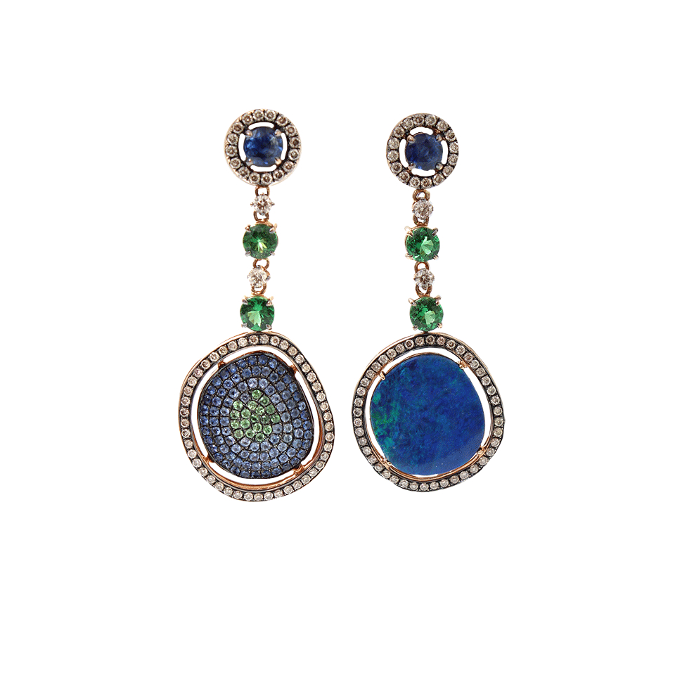 wendy yue opal drop earrings in blue lyst