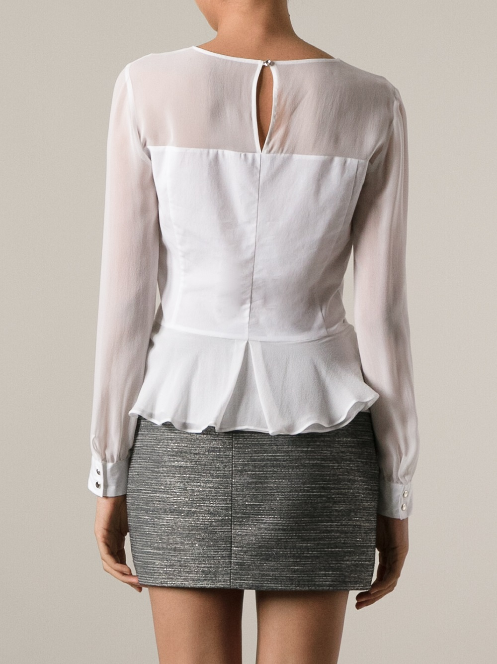 White Long Sleeve Shirt For Women