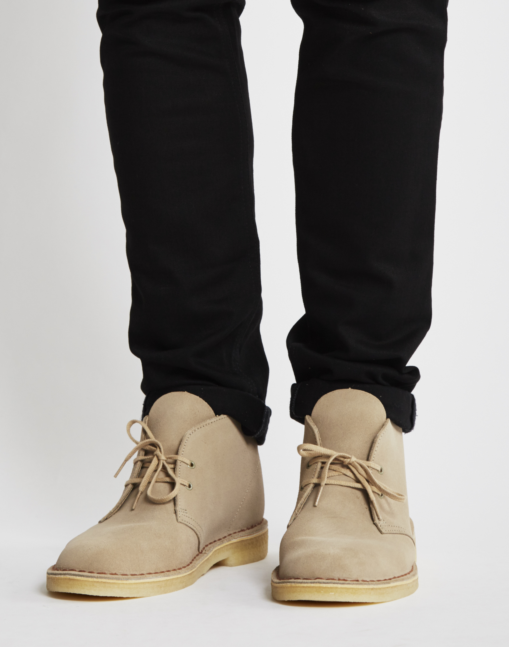 clarks desert boot sand in for lyst