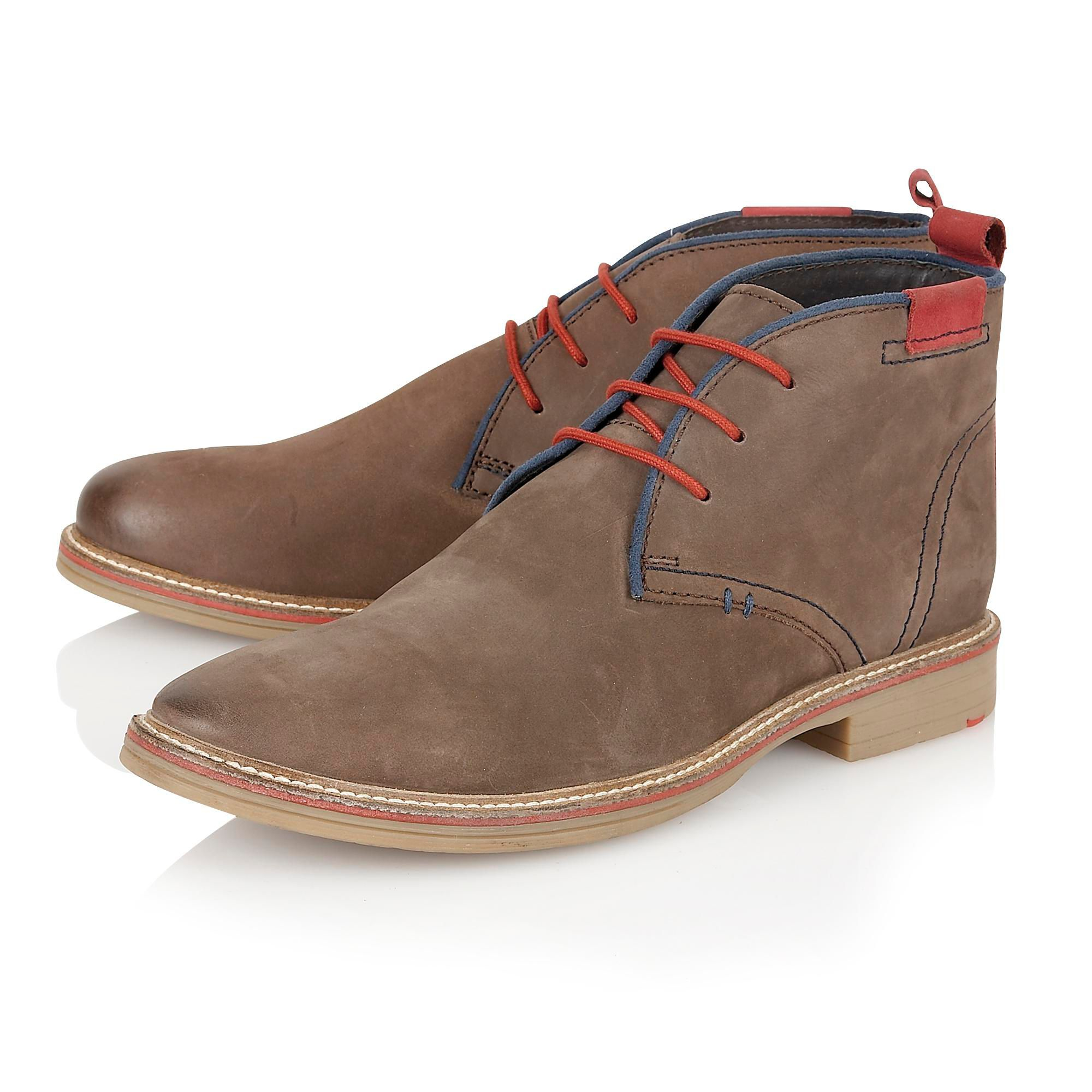 lotus holbeton lace up casual desert boots in brown for men lyst. Black Bedroom Furniture Sets. Home Design Ideas