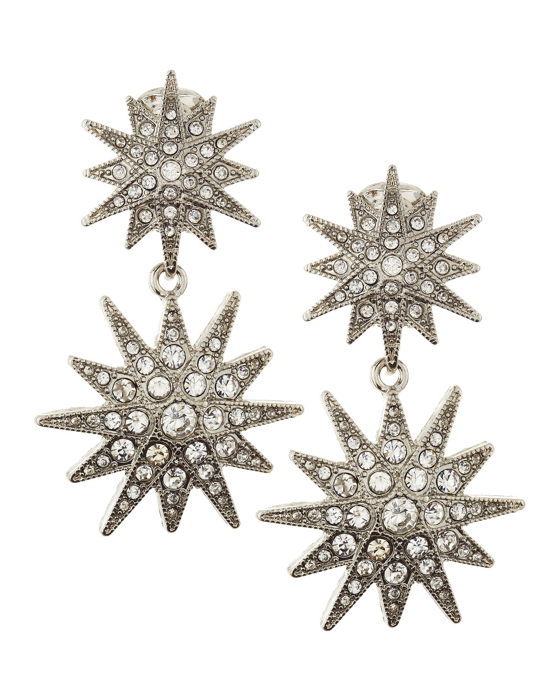 529ce088d Kenneth Jay Lane Pave Starburst Clip-On Earrings in Metallic - Lyst