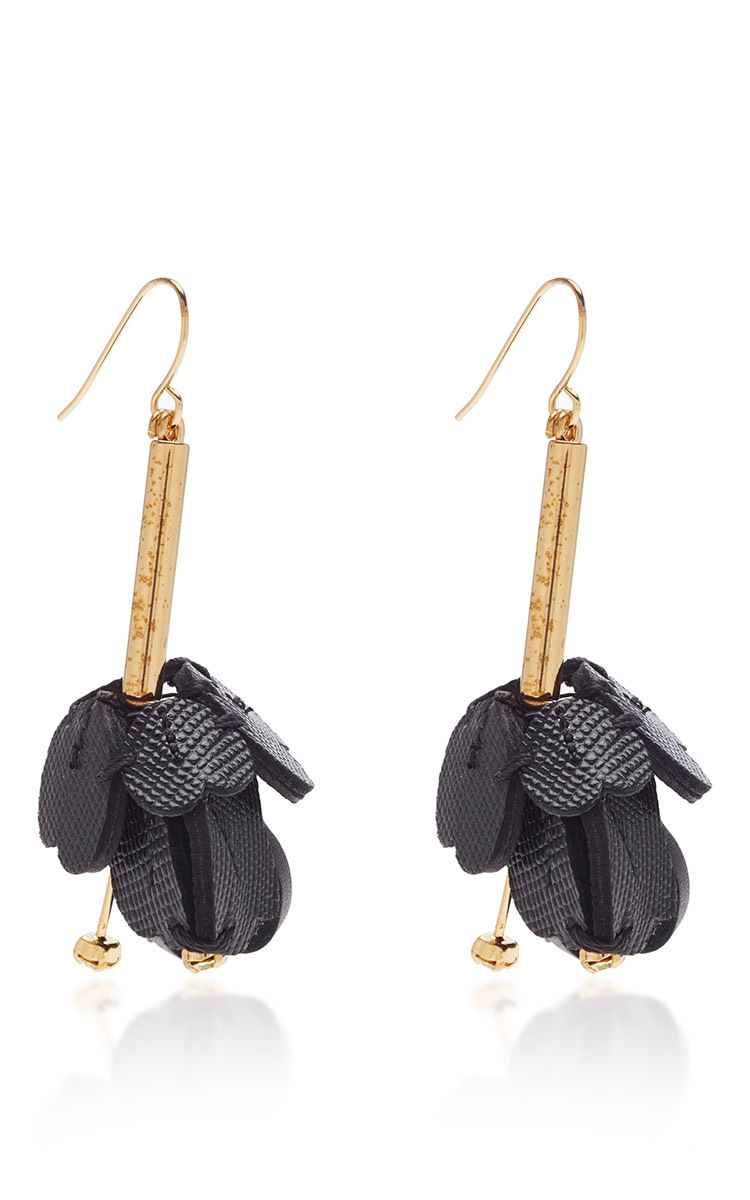 Marni Floral leather earrings Ge2I6kR
