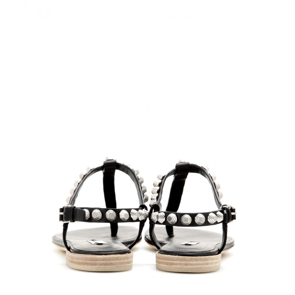 Lyst Balenciaga Giant Studded Textured Leather Sandals