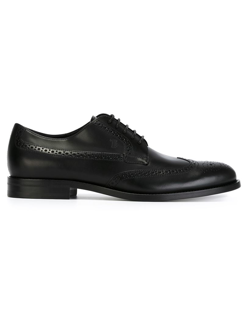 tod s brogue shoes in black for lyst