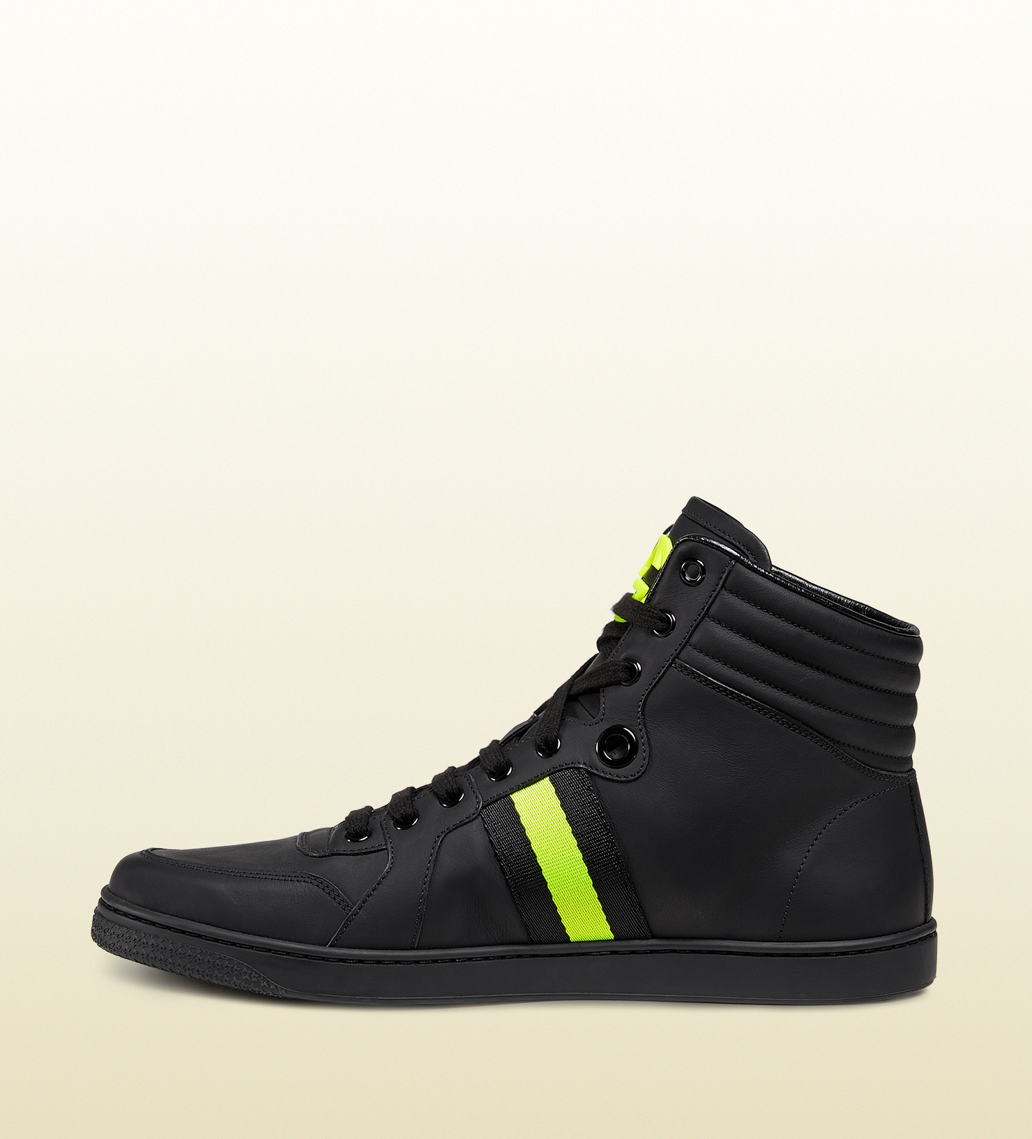 Italian Shoes For Men On Sale Images Kohls Mens Shirt  : gucci black black leather and neon high top sneaker from viaggio collection product 1 25097549 0 749442353 normal from favefaves.com size 1480 x 1632 jpeg 1214kB