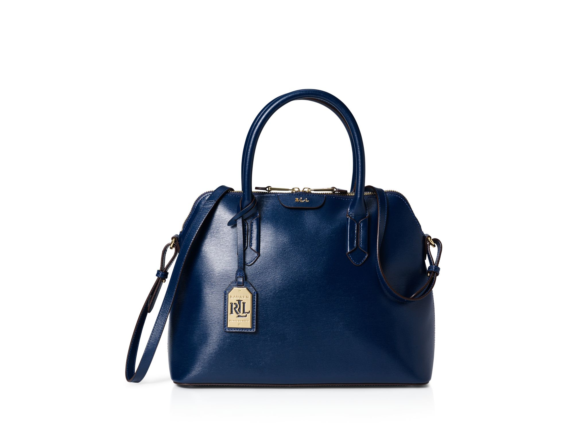 dc7881942399 Lyst - Ralph Lauren Lauren Tate Dome Satchel in Blue