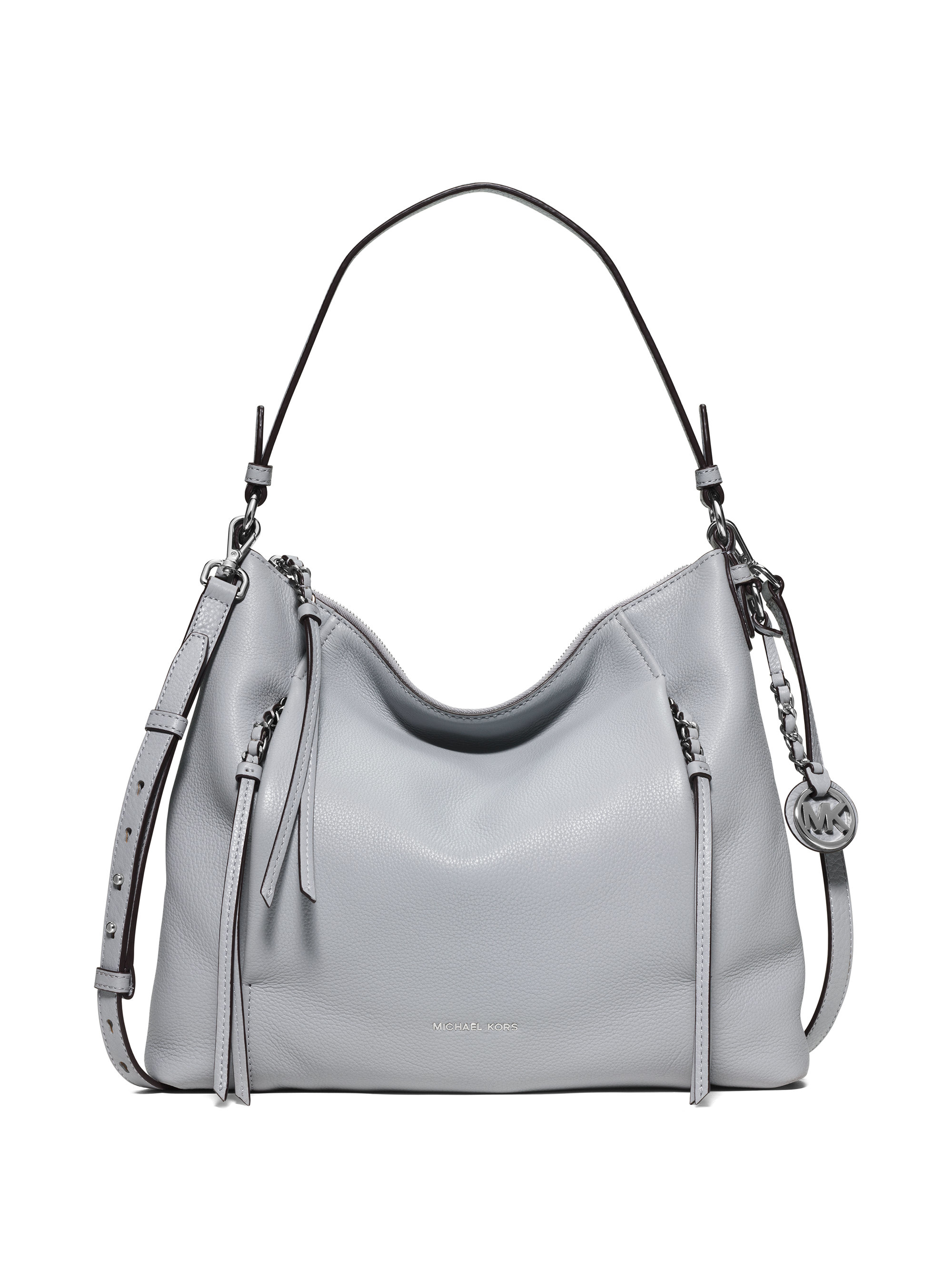 338a481dcab3a4 MICHAEL Michael Kors Corinne Large Leather Shoulder Bag in Gray - Lyst