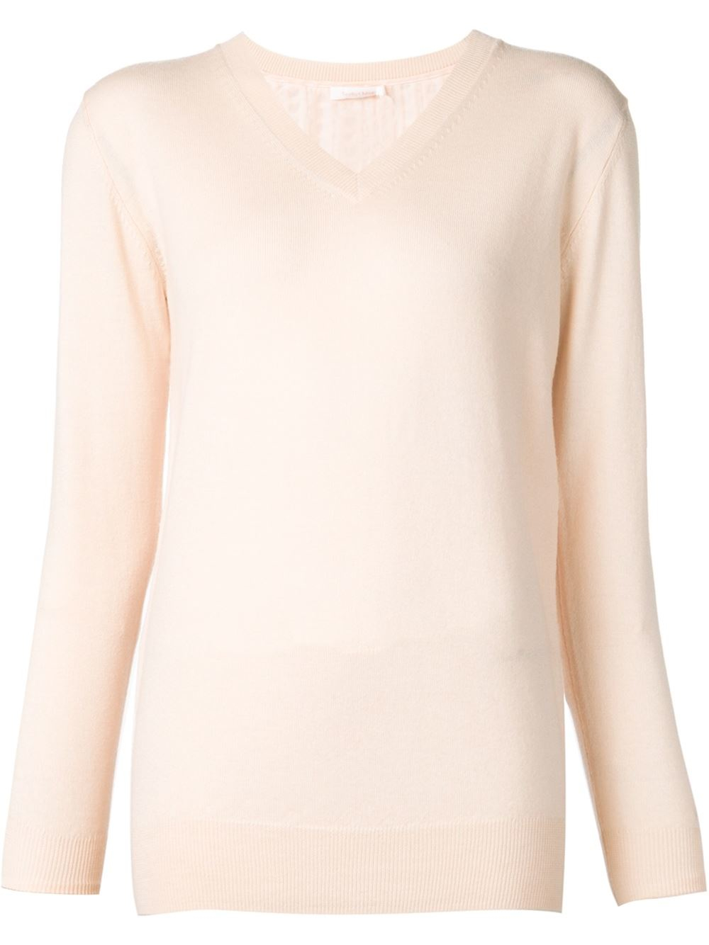 See by chloé Lace Back Sweater in Pink | Lyst
