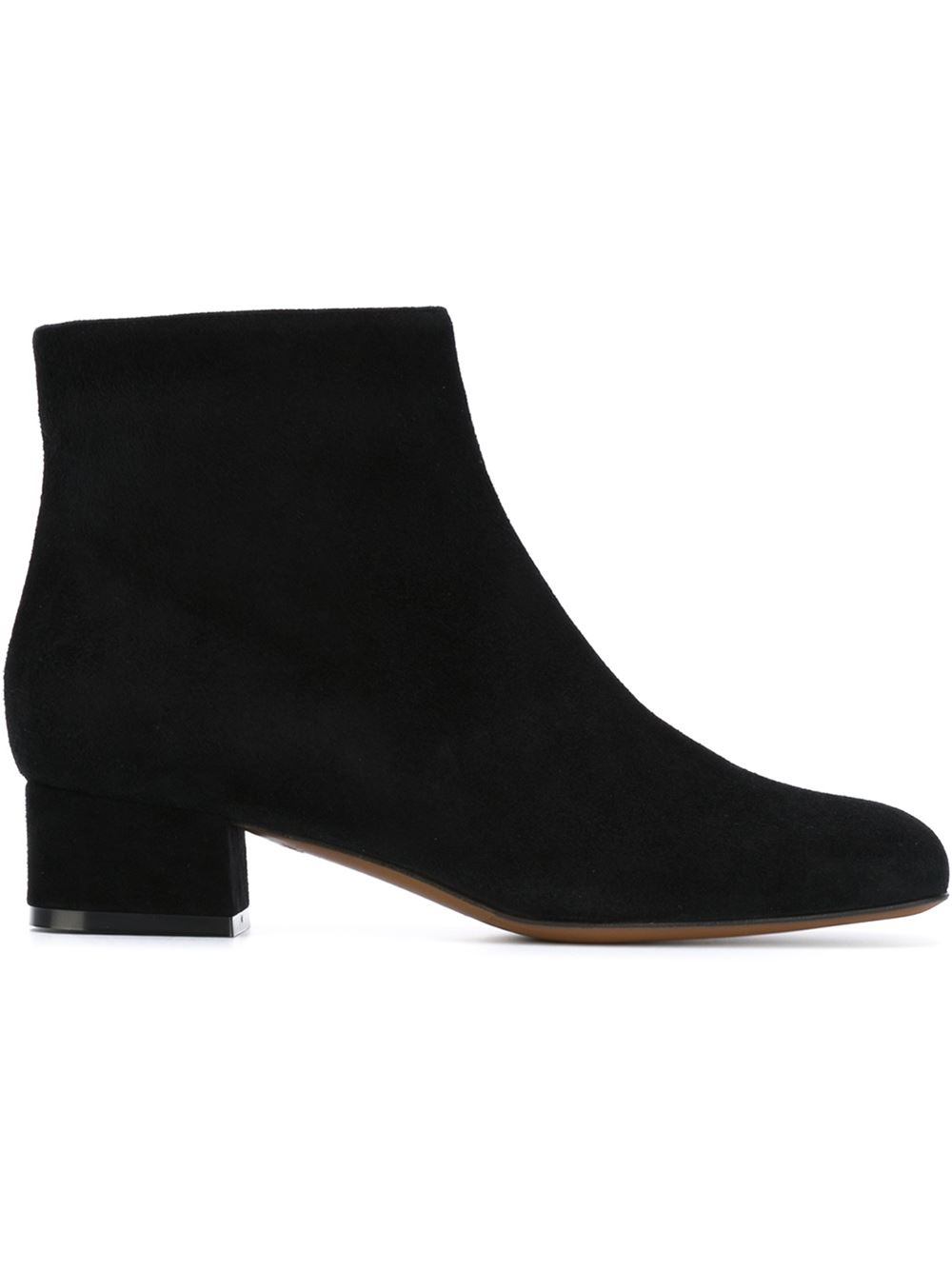 L'autre chose Low Heel Ankle Boots in Black | Lyst