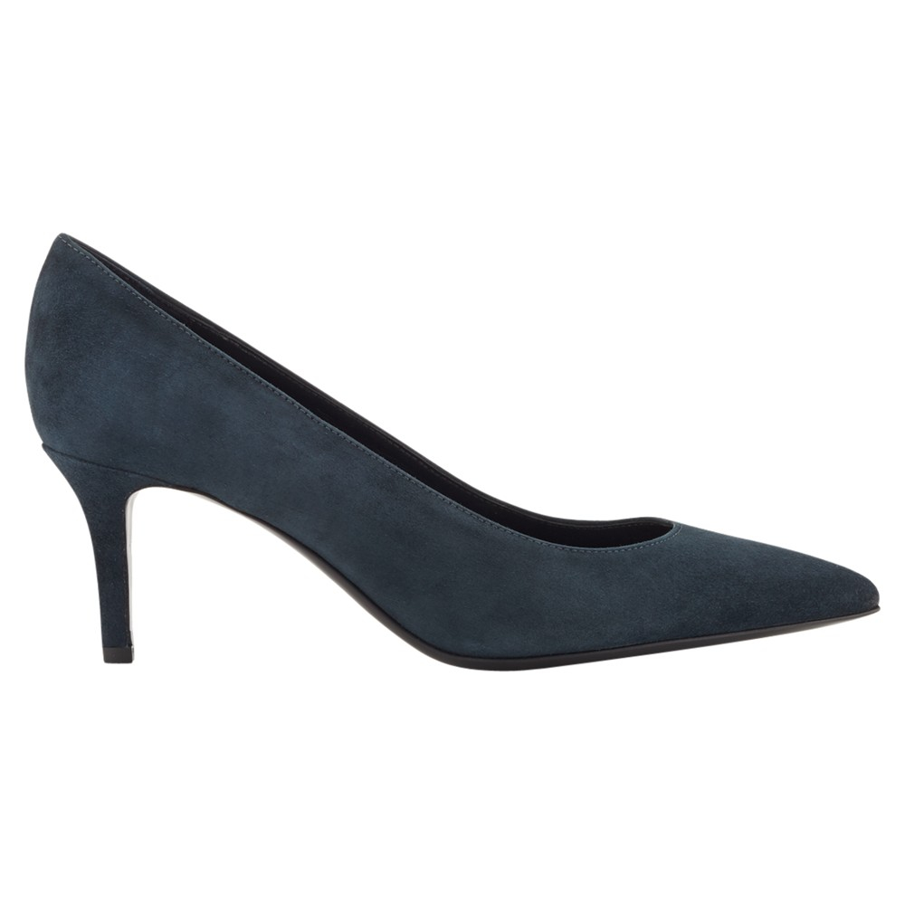 188f64f617 Jigsaw Milly Suede Pointed Court Shoes in Blue - Lyst