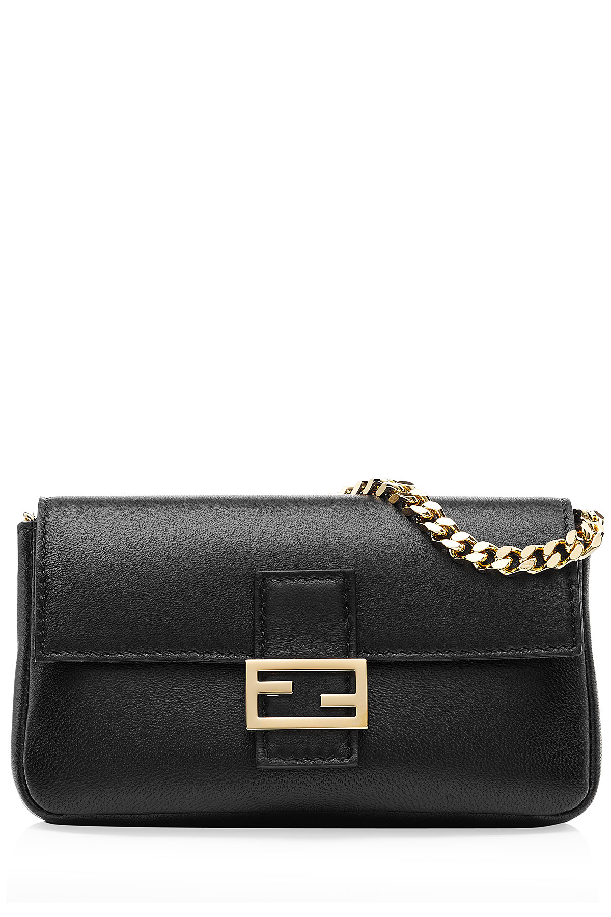 91aaa21e3e ... switzerland lyst fendi micro baguette leather shoulder bag black in  black fc700 2b21a