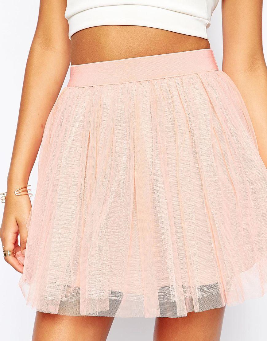89ee8faf3 Boohoo Tulle Mini Skirt in Pink - Lyst