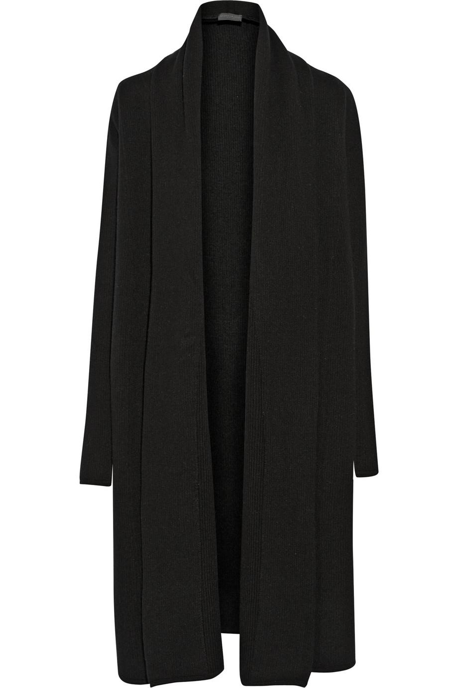 donna karan new york cashmere blanket coat in black lyst. Black Bedroom Furniture Sets. Home Design Ideas