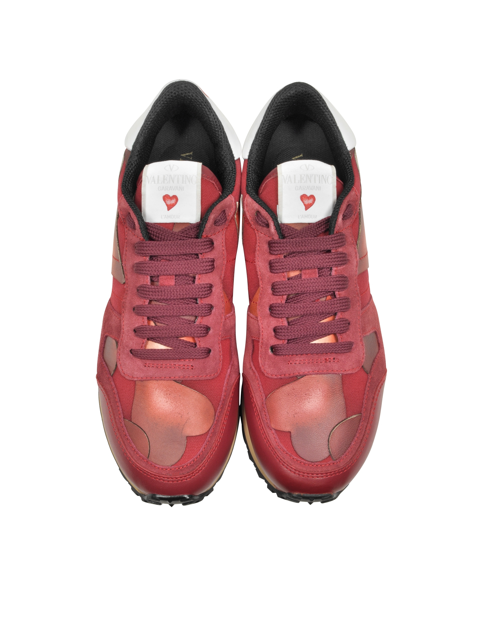3bcc08fcbd84d Lyst - Valentino L amour Red Camuamour Print Sneaker in Red