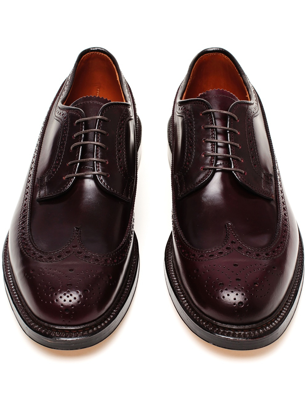 Lyst Alden Cordovan Leather Brogues In Brown For Men