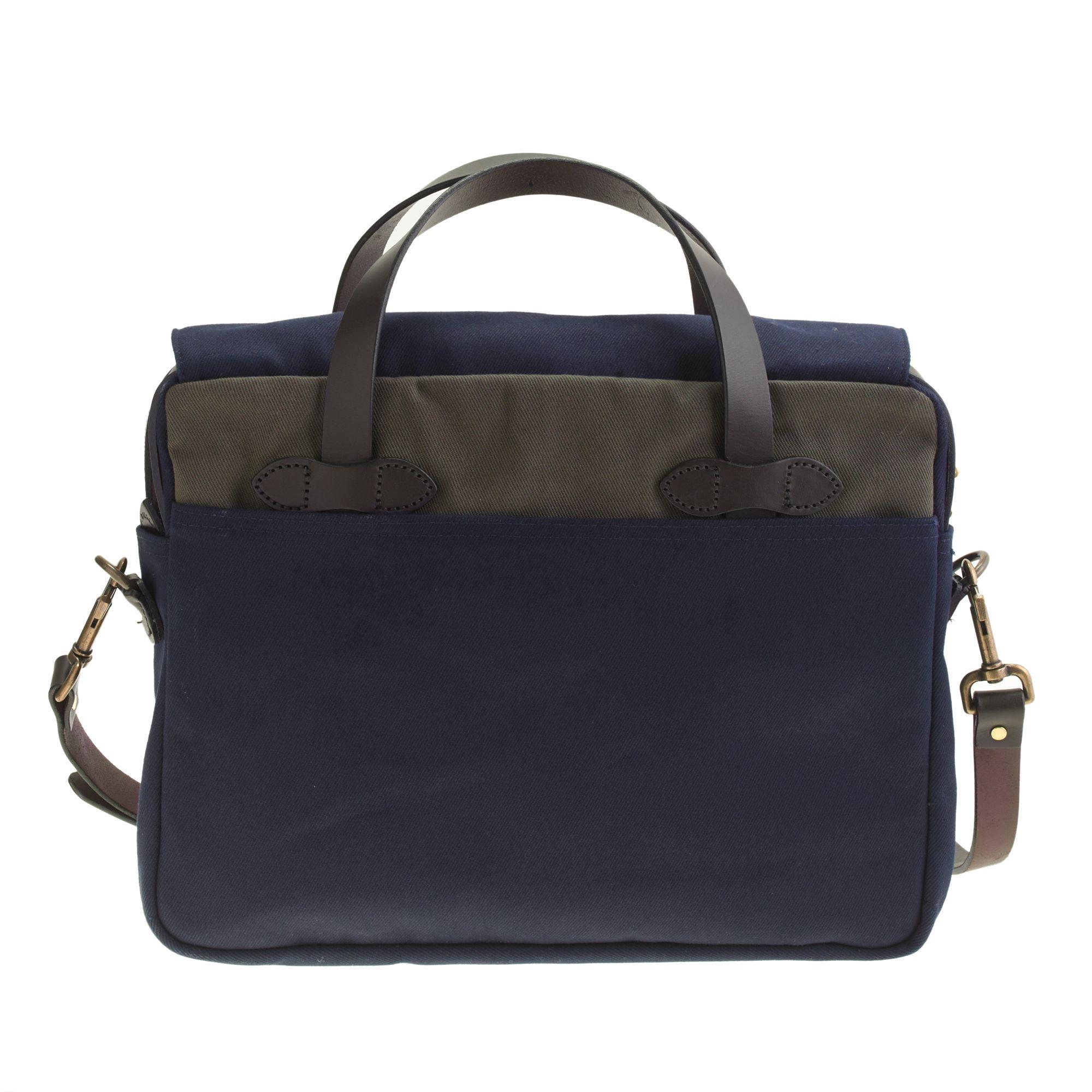 J.crew Filson Rugged Twill Briefcase In Blue For Men | Lyst