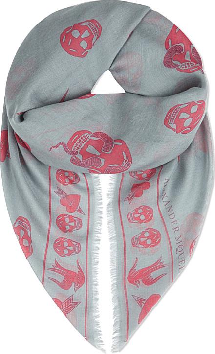 skull and snake scarf - Pink & Purple Alexander McQueen fYIh5NNYY