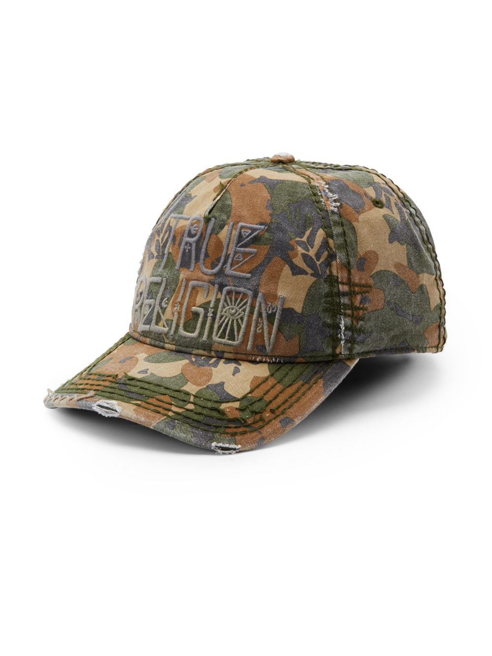6438c2cca5d ... get lyst true religion camouflageprint twill baseball cap in green for  men a3e42 4b928