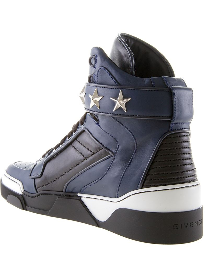 de3c945456a5 Lyst - Givenchy  tyson  Hi-top Sneakers in Blue for Men