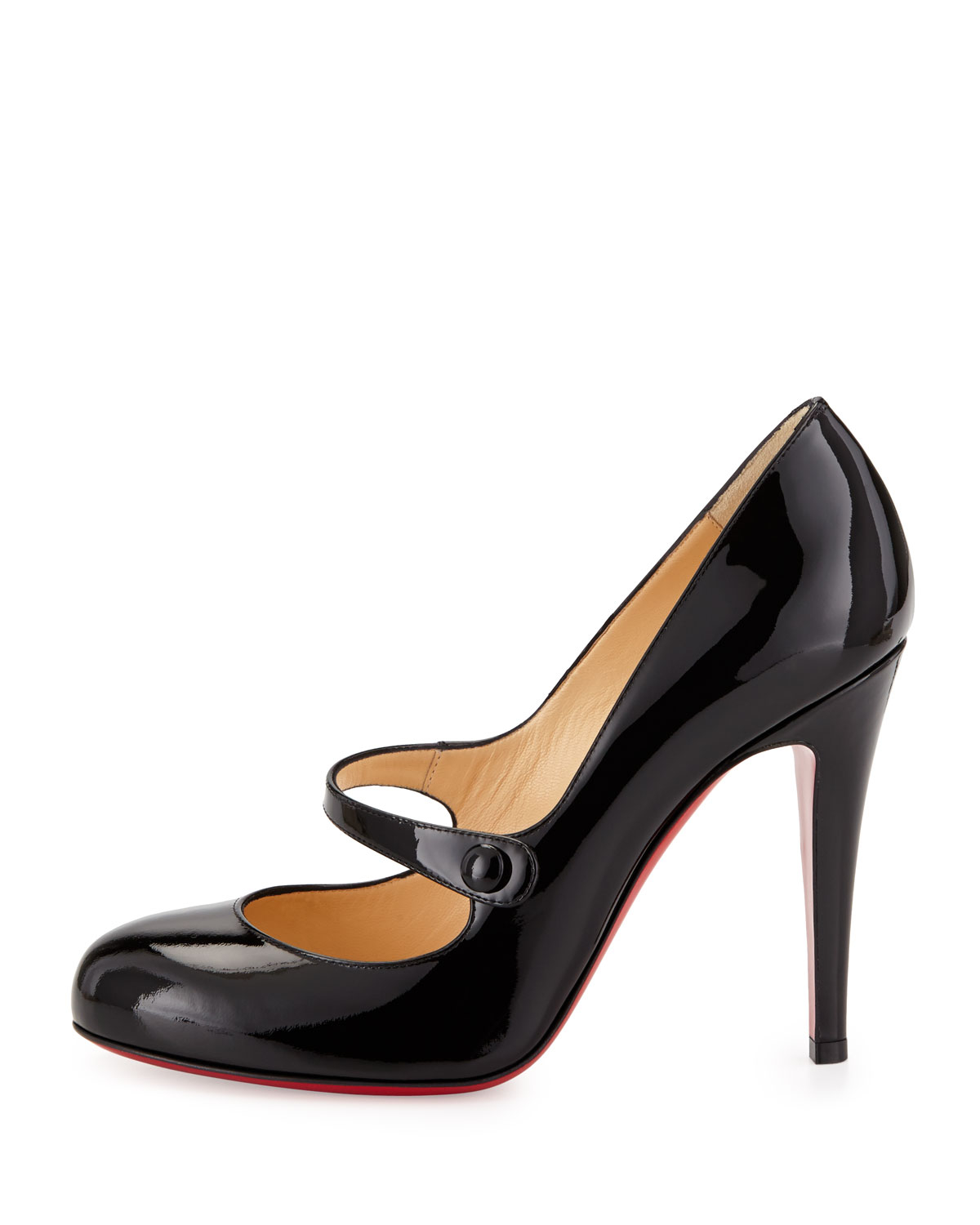 4c4002b53c88 Lyst - Christian Louboutin Charleen Mary Jane Red Sole Pump Black in ...