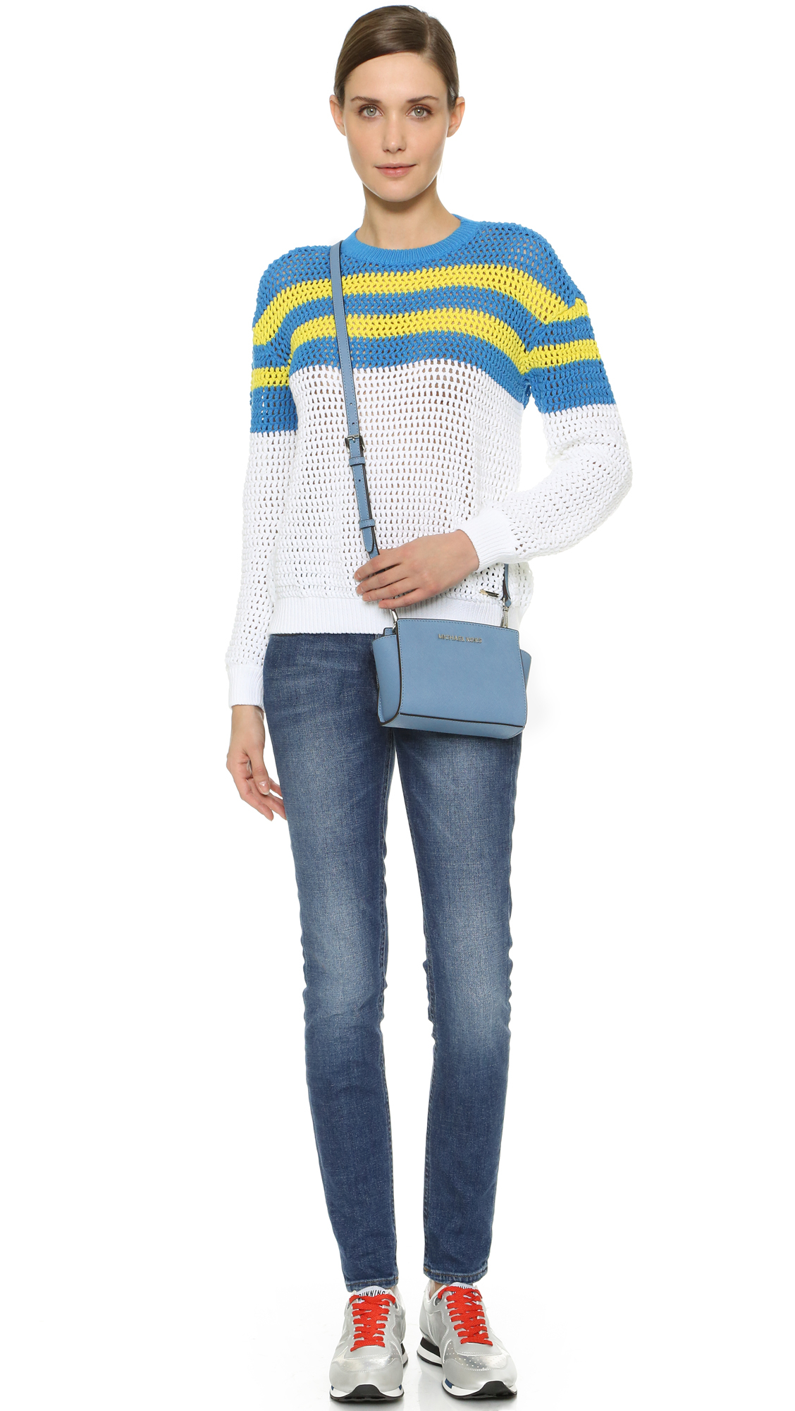 dcacb333122f Gallery. Previously sold at: Shopbop · Women's Leather Messenger Bags  Women's Michael By Michael Kors Selma