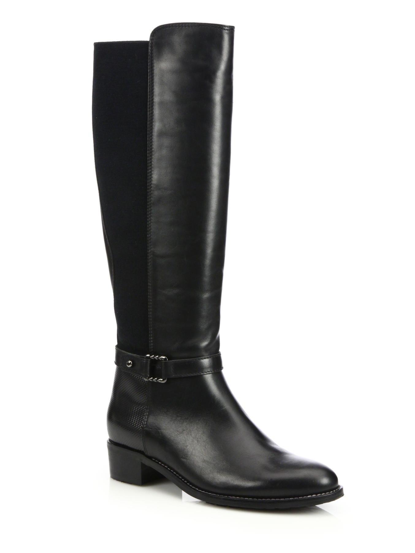 aquatalia olalla leather knee boots in black lyst