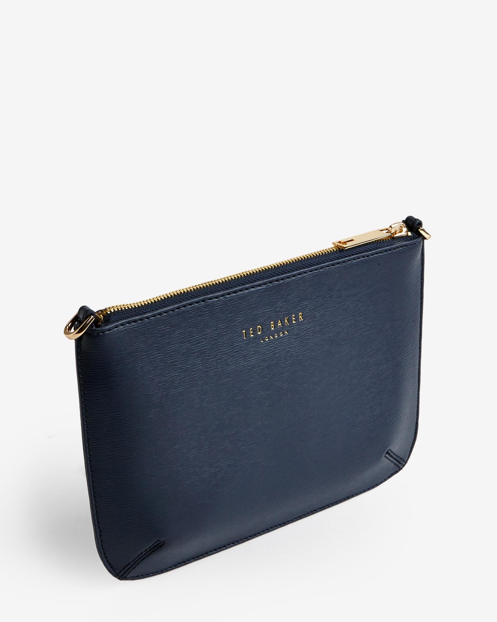 fa51c0f3366bd Lyst - Ted Baker Crosshatch Clutch Bag in Blue