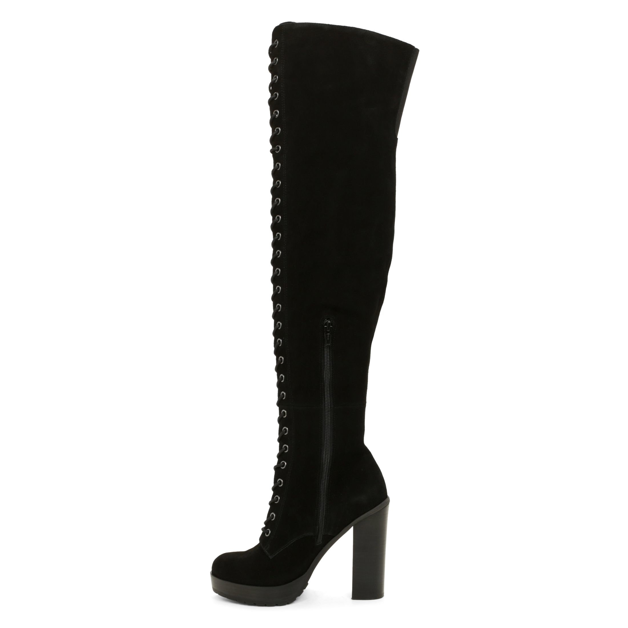 aldo adeasien lace up the knee boots in black lyst