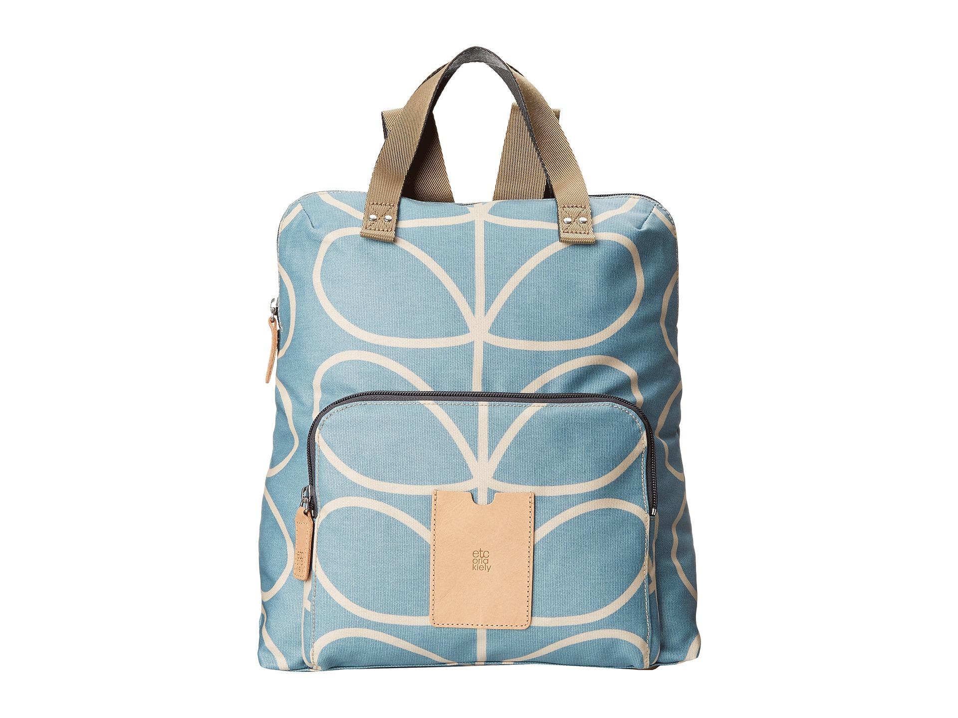 96c64cb9d5f6 Lyst - Orla Kiely Matt Laminated Giant Linear Stem Print Backpack ...