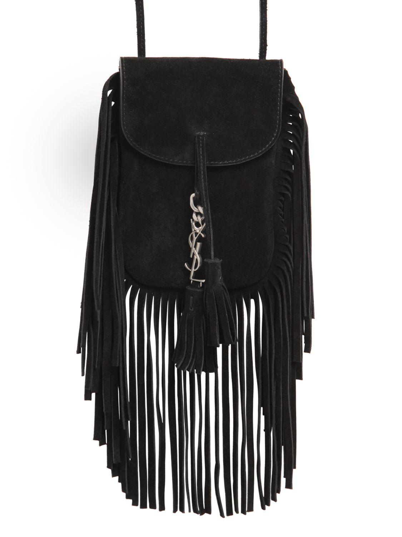 ysl cassandre tassel clutch - anita small matelasse crossbody bag, black
