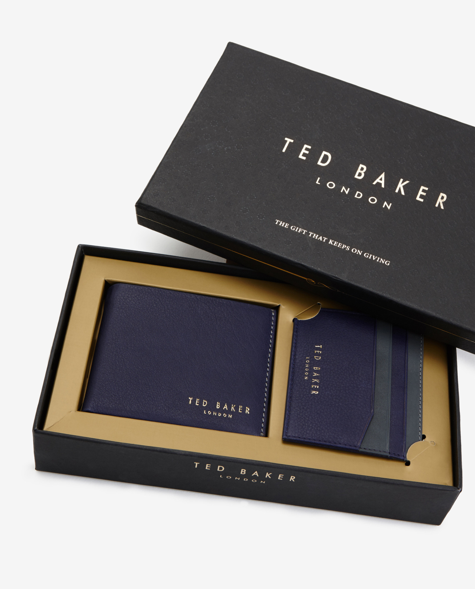 341f0439567 Ted Baker Leather Wallet And Cardholder Gift Set in Purple for Men ...