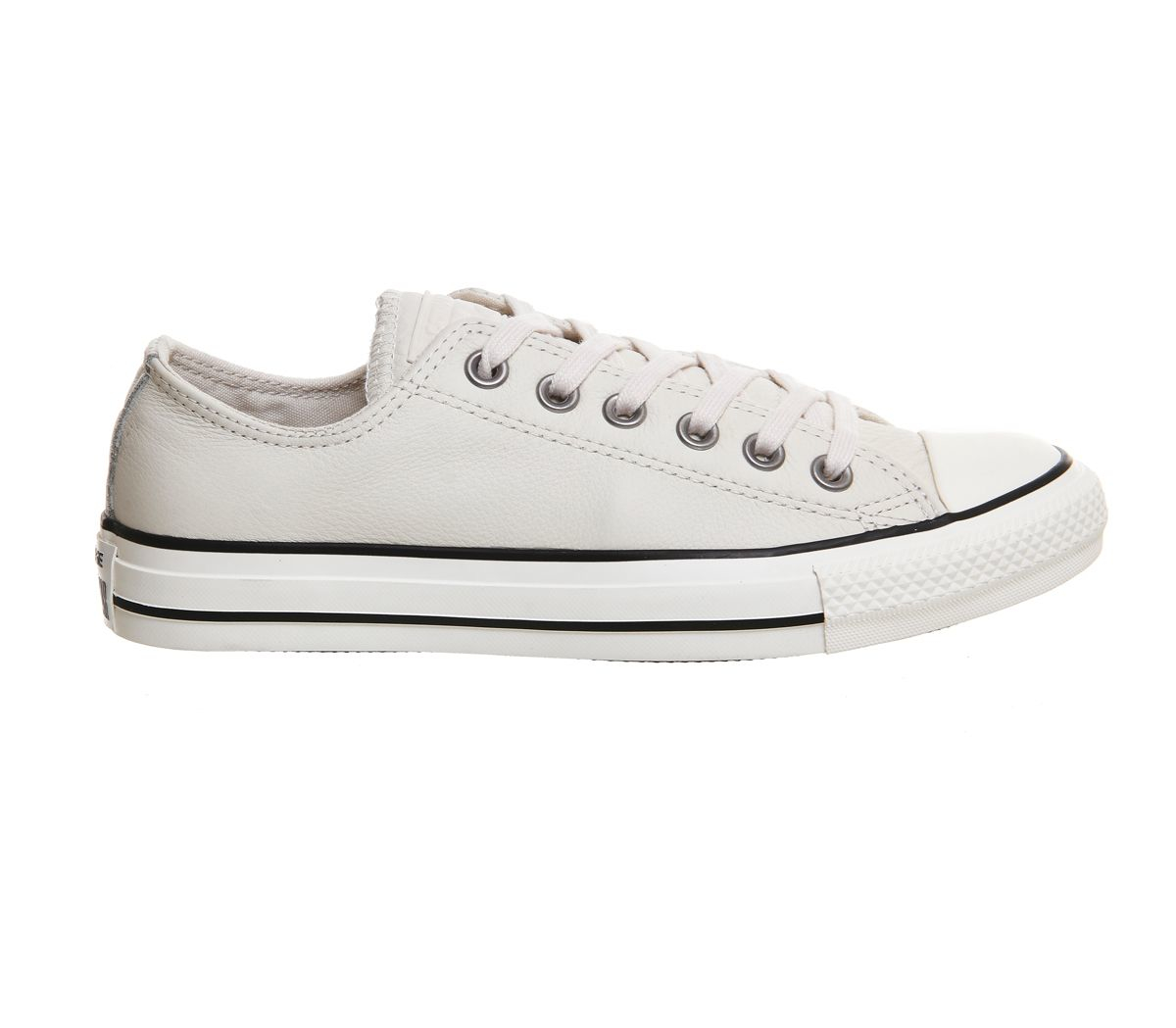 converse all star low leather trainers in white lyst