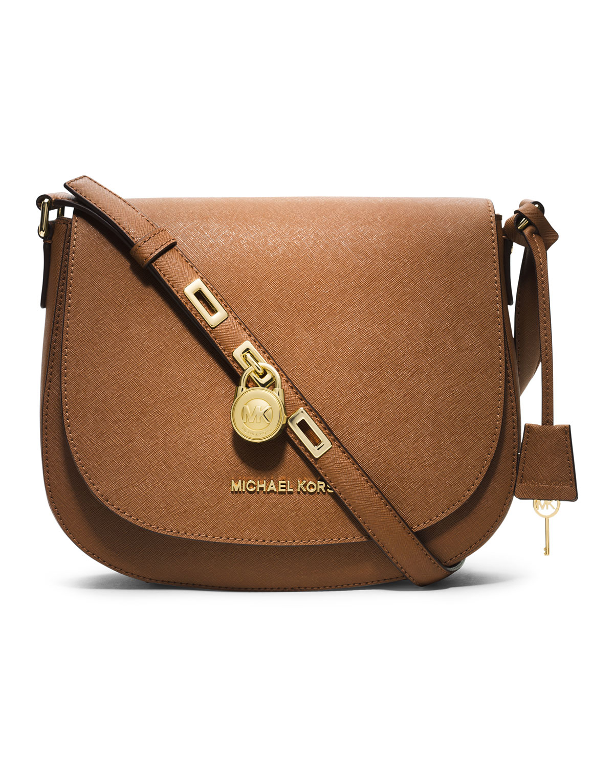 b5dedca5df Michael Kors Michael Large Hamilton Messenger in Brown - Lyst
