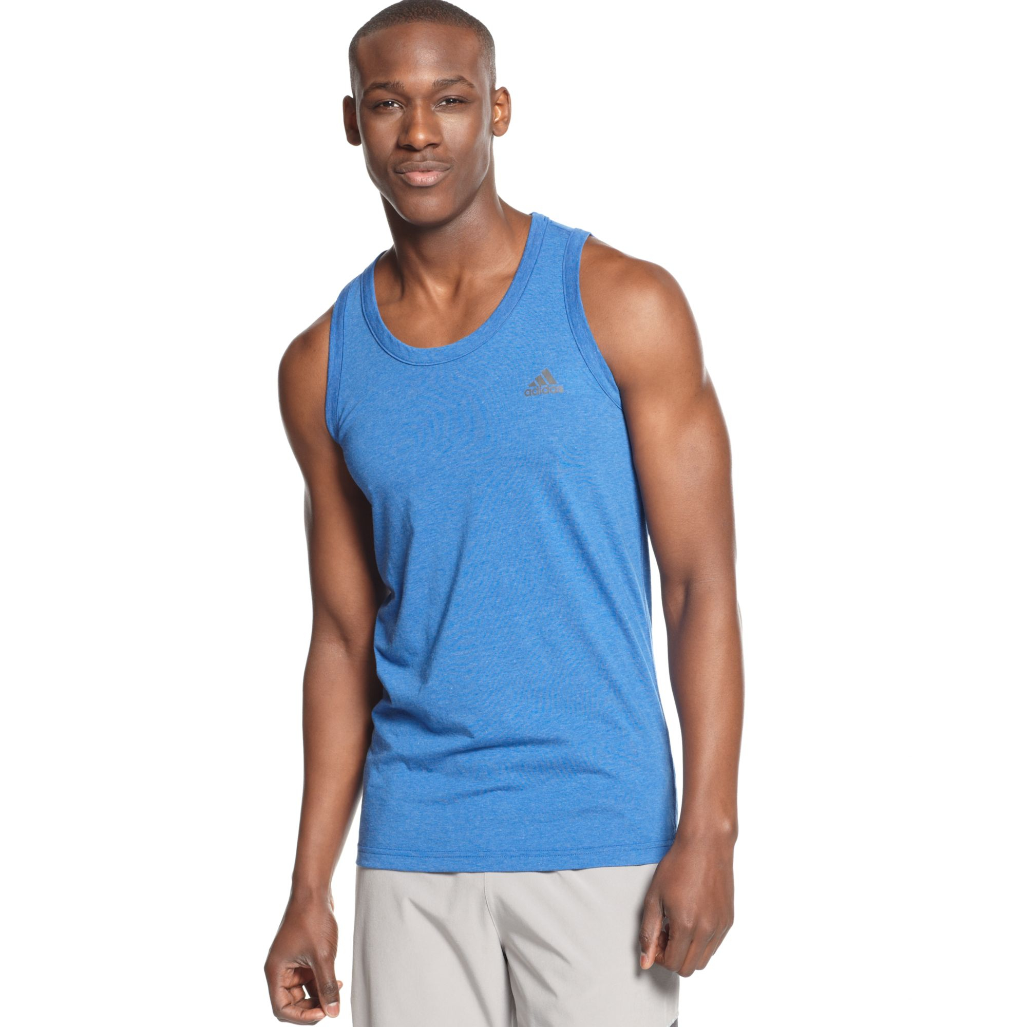 adidas ultimate tank top in black for men lyst. Black Bedroom Furniture Sets. Home Design Ideas