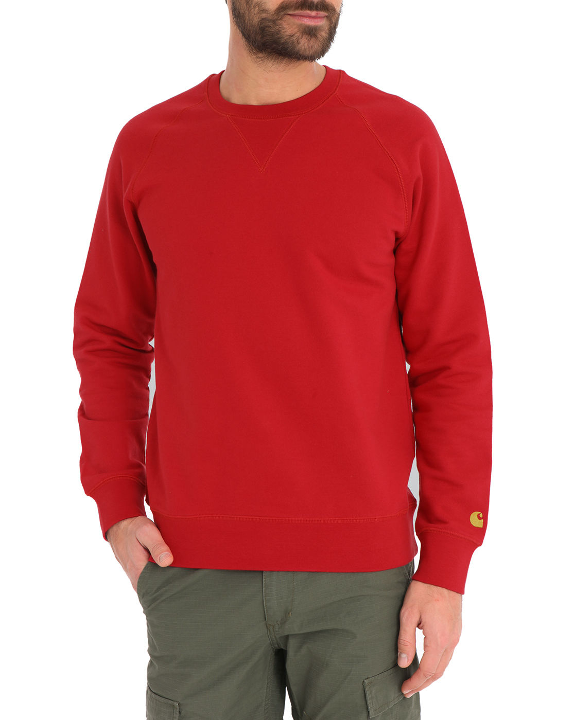 carhartt red chase sweater in red for men lyst. Black Bedroom Furniture Sets. Home Design Ideas