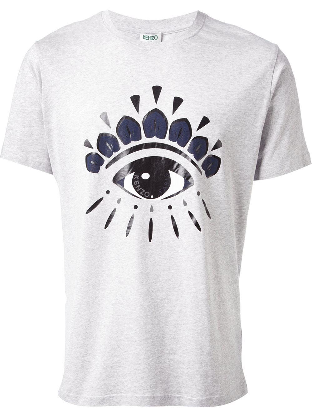 df124983 KENZO Eye Tshirt in Gray for Men - Lyst