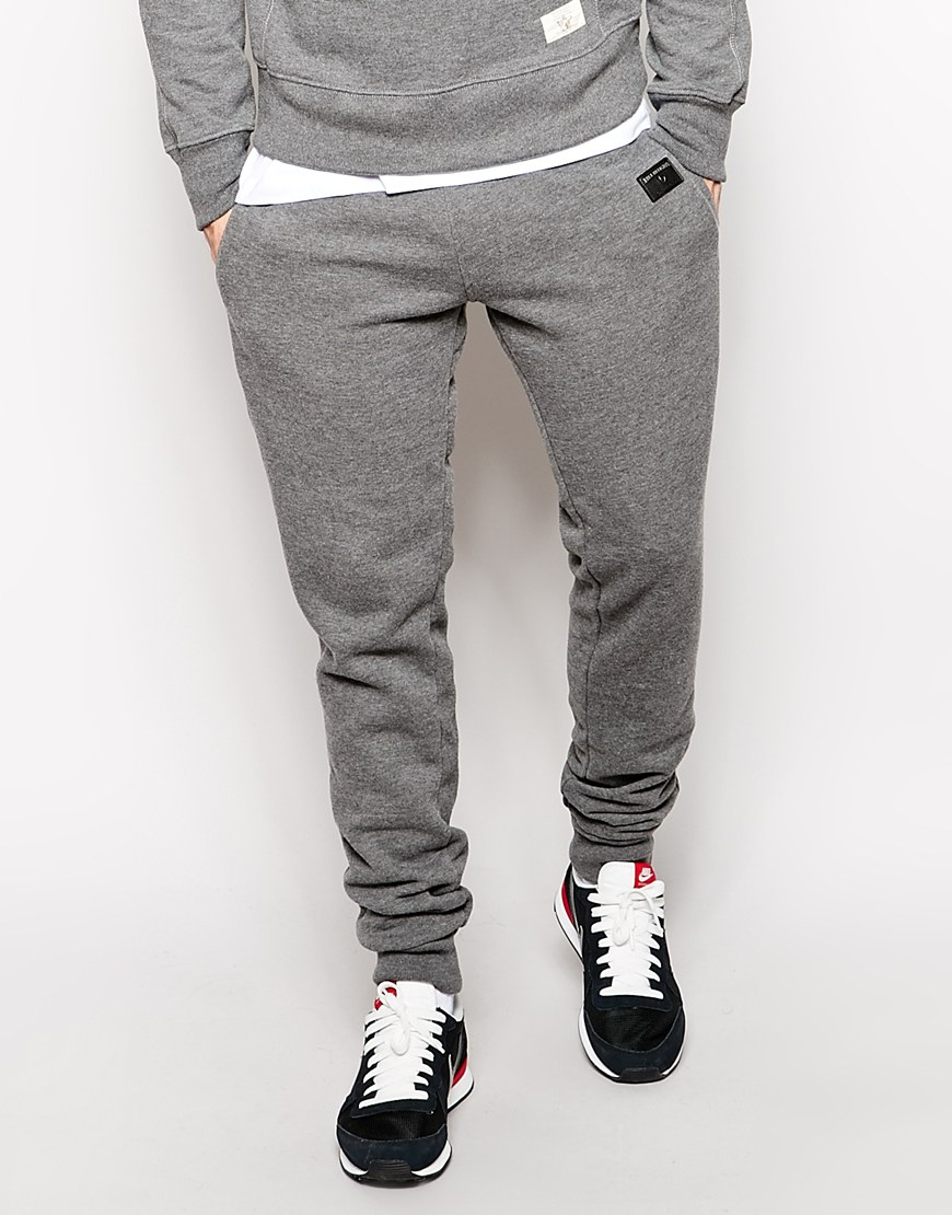8a7a8f948 True Religion Sweat Pants Slim Fit Aplique Patch in Gray for Men - Lyst