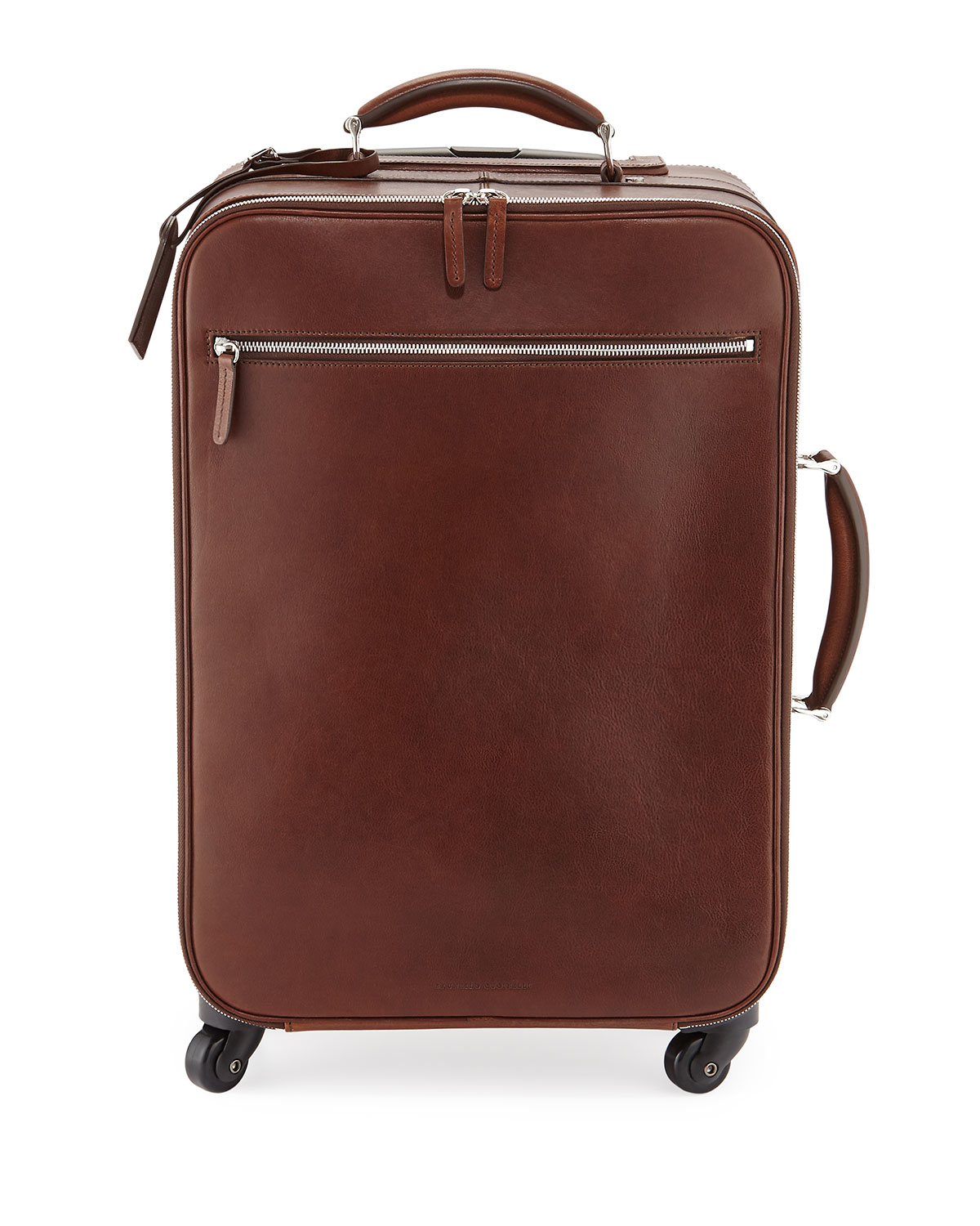 Brunello cucinelli Leather Trolley Bag in Brown for Men   Lyst