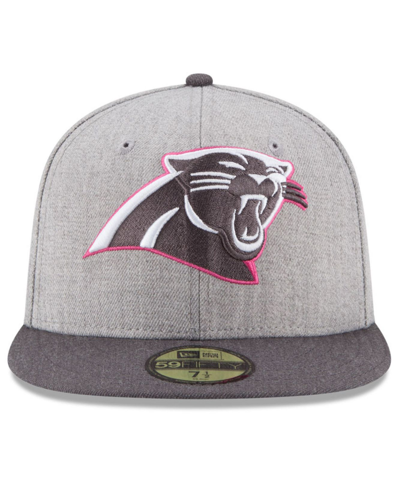 new concept 93e61 1aa74 ... usa lyst ktz carolina panthers breast cancer awareness 59fifty cap in  1bfa3 77533