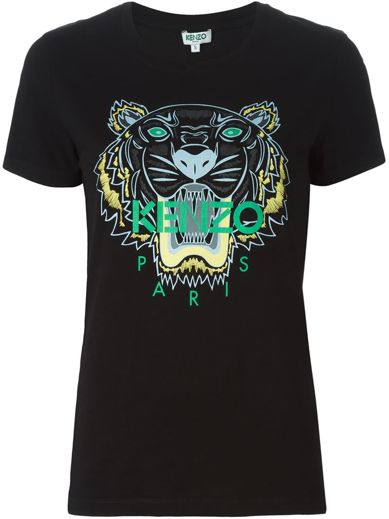 kenzo 39 tiger 39 t shirt in black lyst. Black Bedroom Furniture Sets. Home Design Ideas