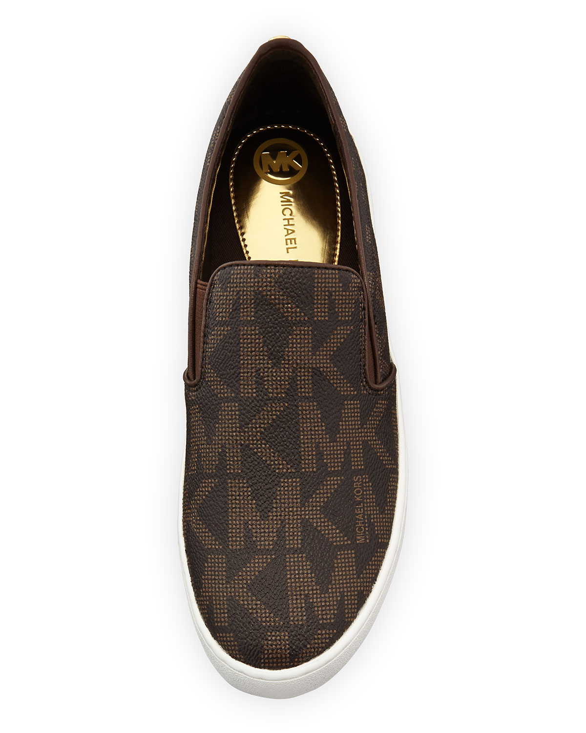 48e9918cfe58 Lyst - MICHAEL Michael Kors Keaton Slip-on Sneaker in Brown