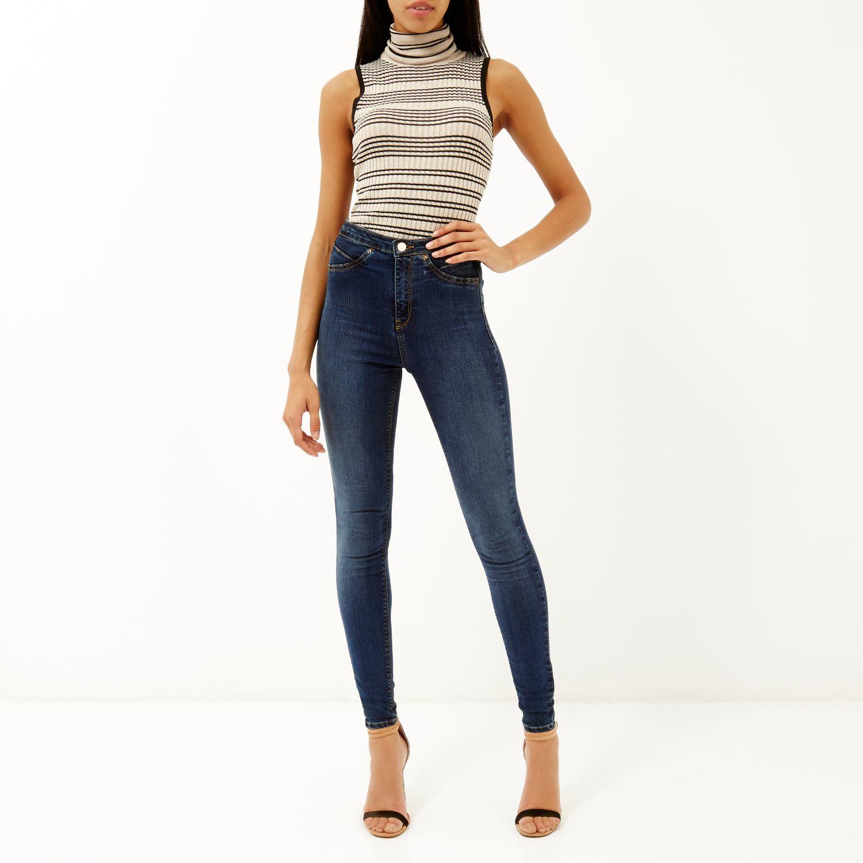 Molly high waist jeans mid blue