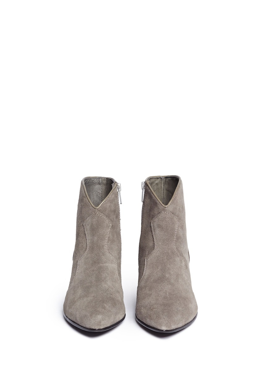 7ea5cd1806e4e Ash 'hurrican' Suede Cowboy Ankle Boots in Gray - Lyst