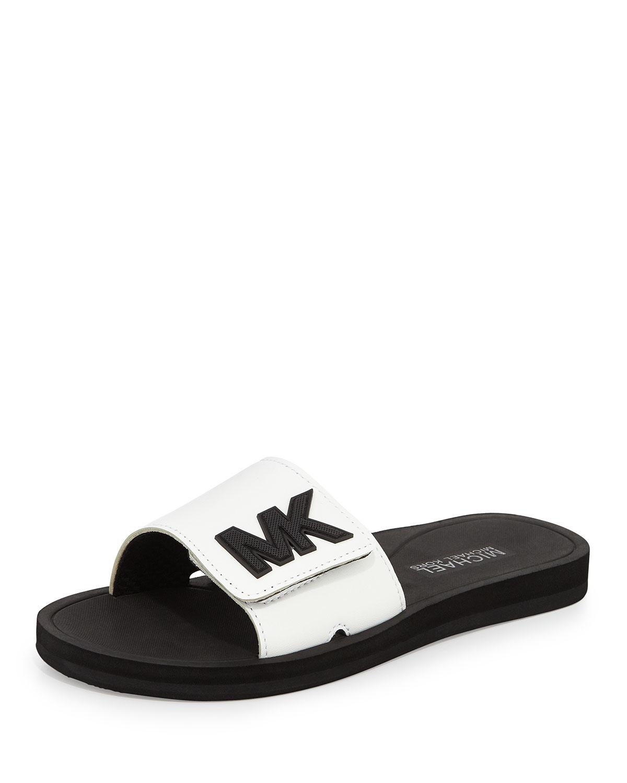 f729b28641e3 Lyst - MICHAEL Michael Kors MK Sport Slides in White