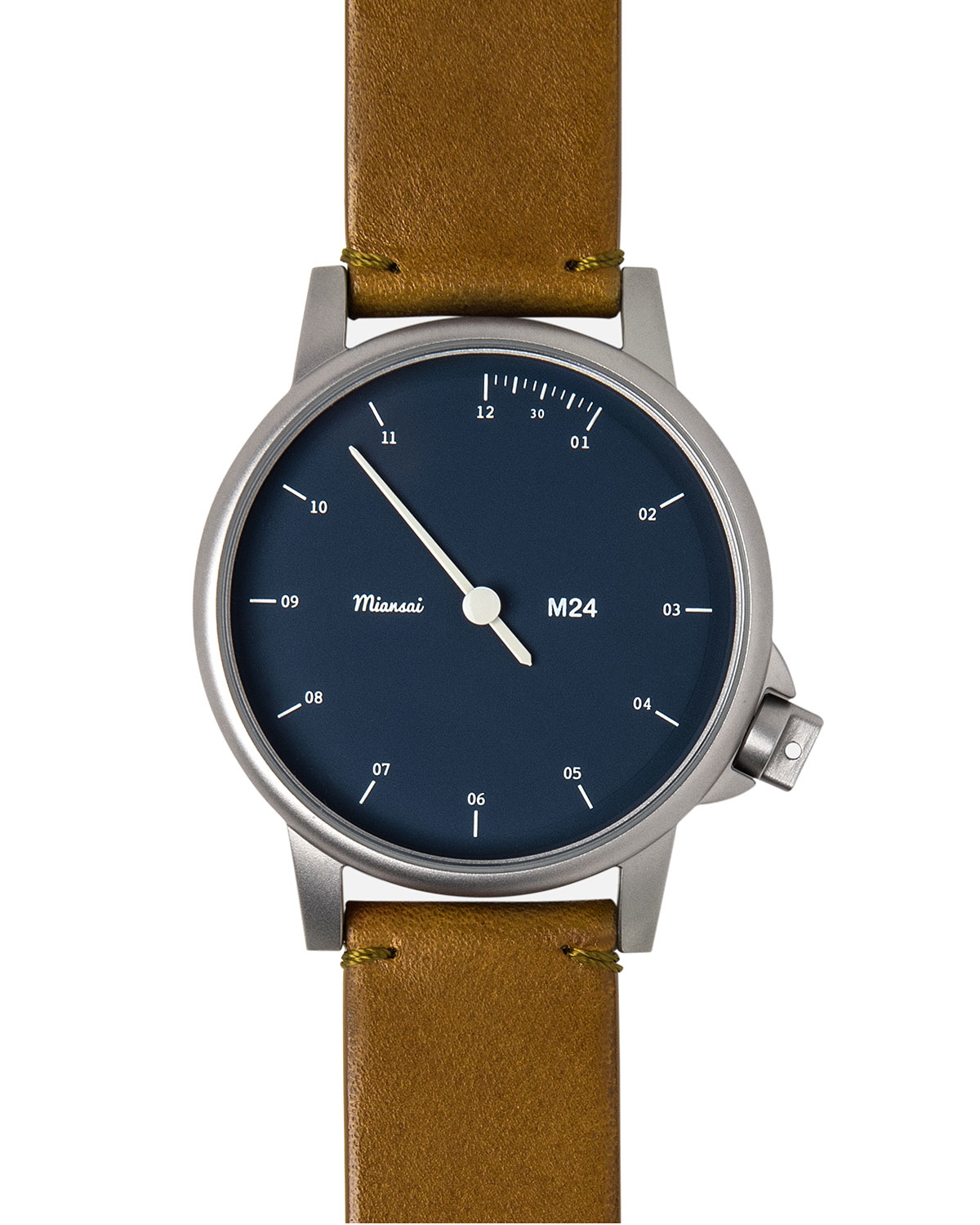 miansai m24 stainless steel with leather in