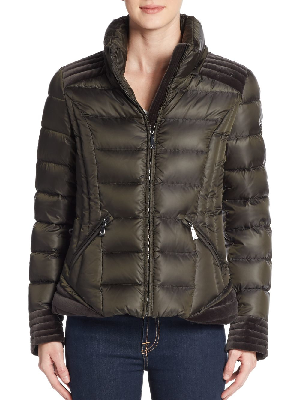 Lyst Dawn Levy Olivia Fur Trimmed Down Puffer Jacket In