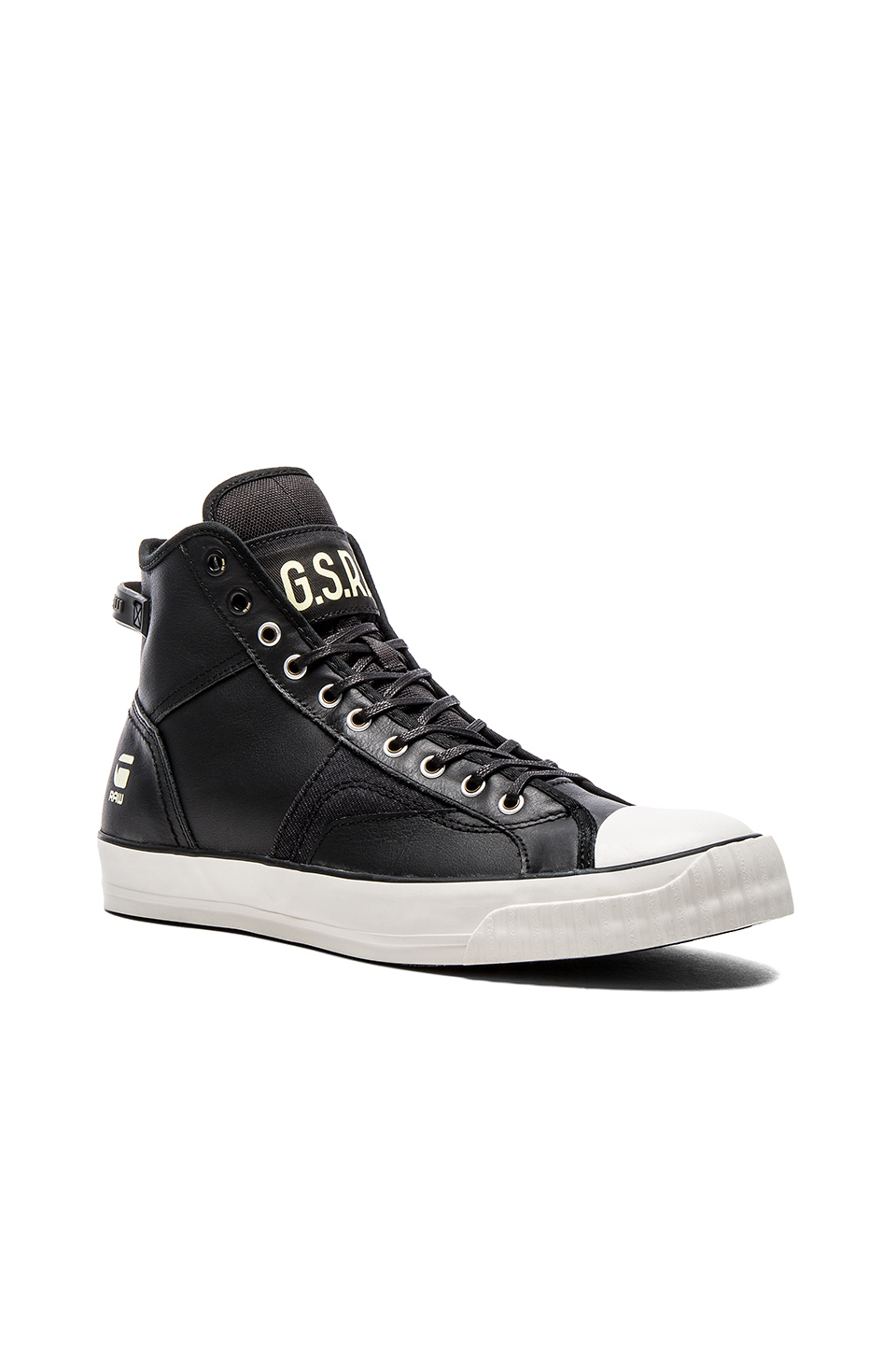G Star Black Leather Shoes